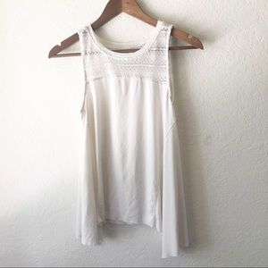 American Eagle Tank Soft Sexy White Lace M Muscle
